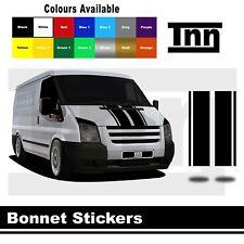 Bonnet Stripe Stickers Vinyl Decals Graphics For Ford Transit MWB LWB SWB Van