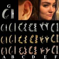 Multi CZ Hoop Nose Ring Daith Snug Piercing Tragus Helix Ear Cartilage Earring*1