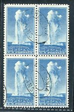 *PJ's - #744 Used Block (4) VF/XF w/ Double Oval Cancels -