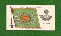 DURHAM LIGHT INFANTRY Faithful Durhams Regimental Colour & Cap Badge 1907 card