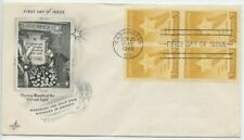 1948 FDC,GOLD STAR MOTHERS, BLK