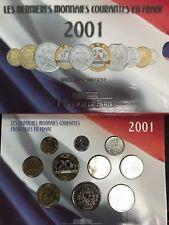 FRANCE - Coffret BU 2001 - La Monnaie de Paris - Brillant Universel