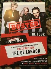 BUSTED UK TOUR LONDON A4 POSTER