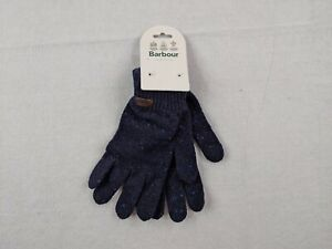 New Barbour Donegal Glove Adult Large Navy Blue Wool Speckled Outdoors