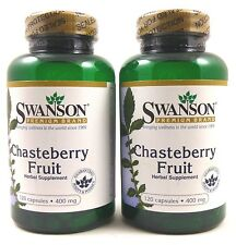 2X Chasteberry Fruit 400 mg 120 Caps Vitex Agnus Castus PMS Menopause Menstrual