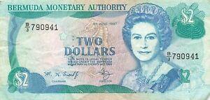 Bermuda 2 Dollars 1997 P-40Ab