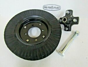 """15"""" X 4"""" ROTARY CUTTER TAIL WHEEL TIRE WITH HUB & AXLE BOLT FOR 1"""" AXLES"""