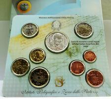 SERIE DIVISIONALE 9 MONETE EURO 1 CENT A 5 EURO ARGENTO ITALIA 2005 ,COND.FDC