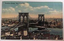 1915 Brooklyn Bridge, New York City Postcard (American Art Pub. Co., NYC) Used