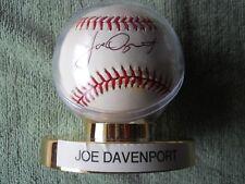JOE DAVENPORT AUTOGRAPHED SIGNED BASEBALL Chicago White Sox, Colorado Rockies