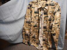 Munsingwear Men's Sport Casual Fishing Fly Shirt Size L Large Long Sleeve
