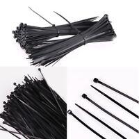200Pcs Nylon Reusable Strap Hook Loop Ties Network Cable Cord Tidy Organiser
