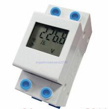 LCD 50A Kilowatt Hour watt  Amp Volt 4 in 1 Combo  Meter 220VAC DIN RAIL 1-Phase