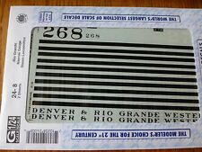 Microscale Decal G #24-8 (2sheet) Rio Grande (D&RGW) Steam - Narrow Gauge - C-16