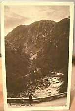 Welsh RPPC Postcard ABERGLASLYN PASS From Pont Wales UK G. P. Abraham Sepia 1927