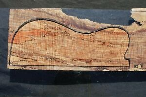 """CURLY SPALTED MAPLE 24 5/8"""" X 8 1/4"""" X 1 1/2"""": GUITAR, LUTHIER, CRAFT, SCALES"""