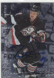 Erik Rasmussen Autograph 99-00 BAP Sabres Rookie Card Devils - Assat
