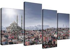 Large Süleymaniye Mosque - Islamic Canvas Multi Set of 4 - 130cm Wide