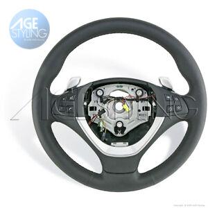 OEM BMW X6 E71 X5 E70 HEATED Leather Steering Wheel w. Steptronic Gear Shifters