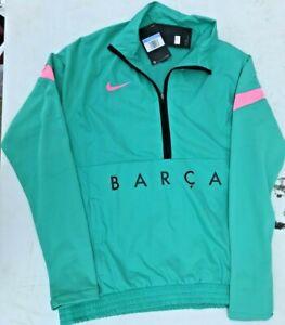 NWT Nike Barcelona Track Jacket Woven 20/21 Green/Pink Beam Mens M CK8486-396