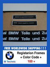 BMW 80/90 Number Plate Surrounds + Color Code Nummernshildhalter + Aufkleber