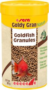 Sera 80g Goldy Gran Nature Goldfish Granules Fish Food 250ml Ornamental Aquarium