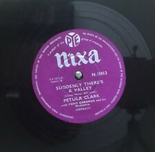 """PETULA CLARK-Suddenly There's A Valley -10"""" Record 78rpm-N15013"""