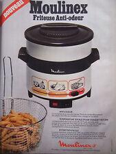 PUBLICITÉ DE PRESSE 1978 MOULINEX FRITEUSE ANTI-ODEUR - ADVERTISING