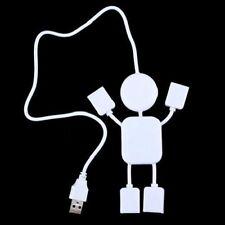 Cute 2.0 Humanoid Splitter Cable Adapte 4 Port Hub High-Speed USB