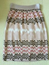 MISSONI SKIRT IN SOFT PINK AND LILAC - LINED - EU 40 / UK 8 - NEW - RRP 595 GBP