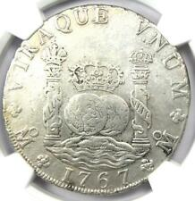 1767-MO MF Mexico Pillar Dollar 8 Reales Coin (8R). Certified NGC XF Detail (EF)