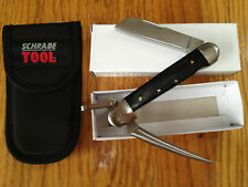 COLONIAL MARLIN SPIKE OUTRIGGERS KNIFE WOOD HANDLE/NYLON SHEATH NEW