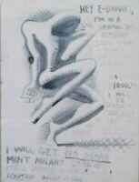 mark kostaby pennarello su carta opera unica cm 31x23 agosto 2000 con autentica