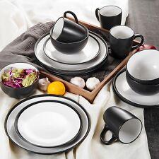 Vancasso 16PC DINNER SET BOWL PLATE MUG SOUP SIDE PORCELAIN CUP GIFT NEW