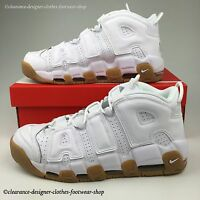 NIKE AIR MORE UPTEMPO TRAINERS MENS WHITE GUM LIMITED EDITION SHOES UK 10