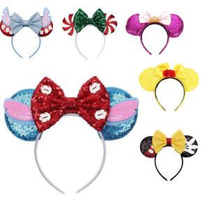 Minnie Mouse Ears Headband Disney Land World Sorcerer Mickey Rose Gold