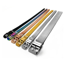 5pcs 8*210mm Stainless Steel Wristband Bracelet Fit 8mm Slide Charms/Letters