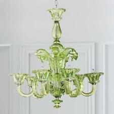 NEW Horchow Green Murano-Venetian Italian Glass Chandelier Dining Foyer