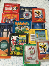12 Panini Football Sealed Sticker Packet Packs
