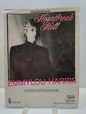 Heartbreak Hill Sheet Music Emmylou Harris Piano Voice 80s Country F2F