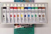 Artist's 12ml Acrylic Paints Set of 12 Assorted Colors Artist Art High Quality