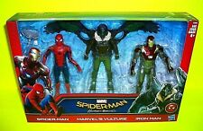 Marvel SPIDERMAN VULTURE & IRON MAN Action Figure 3-Pack Homecoming Movie Lot