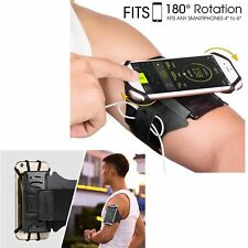 iPhone X Running Armband 180° Rotatable Running Workout Cycling with Key Holder