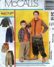 McCall's 3416 Boy's Hunting Cargo Pants, Vest and Shirt Size 7 to 16