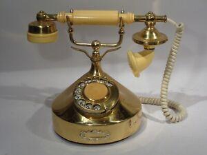 ALTES MESSING TELEFON DEKO VINTAGE DEF.? ANALOG
