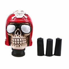 Resin Red Skull Head Gear Shift Knob Car Manual Stick Shifter Lever MT 15mm Hole