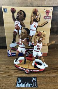 SCOTTIE PIPPEN & DENNIS RODMAN Chicago Bulls Run With Us Bobblehead /360 Bobble