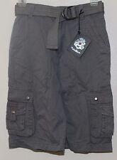 English Laundry Cargo Shorts w Belt Boy's Size 8 Light Grey  NWT $48