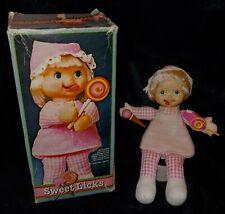 "Vintage 11"" Sweet Licks 1979 Mego Tounge Licking Doll w Box & Accessories U1029D"