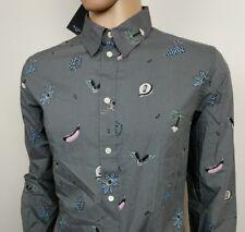 Paul Smith Mens Shirt PSJ Mainline Floral Palm Trees Hotdogs Sz L Chest 44